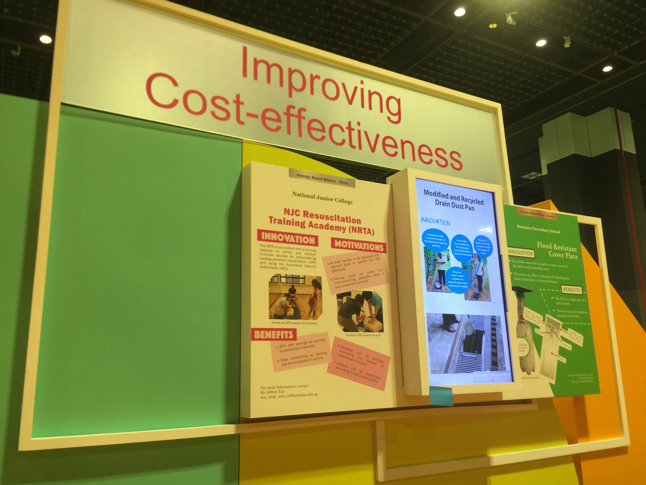 MOE Excel Fest Interactive Rotoscope Display