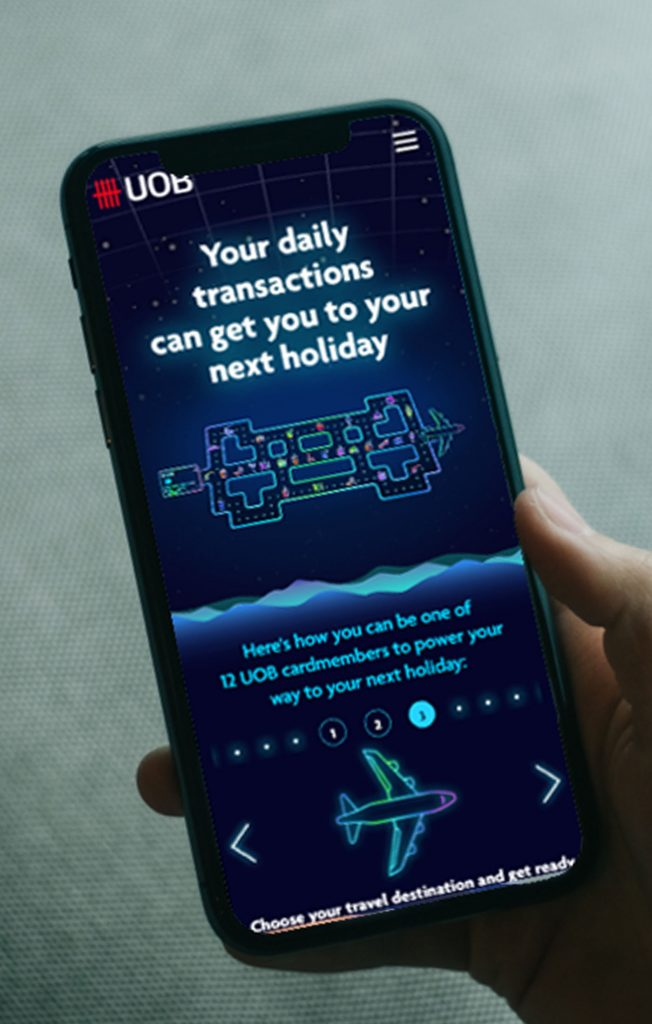 UOB Interactive Pac-Man Microsite Game - Landing page on smartphone